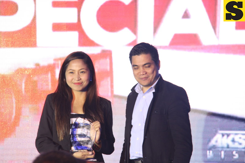Reporter of the Year for TV is Patricia Andrea Patena of TV5