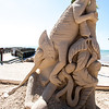 Sand sculpture on the beach at the Casa Marina