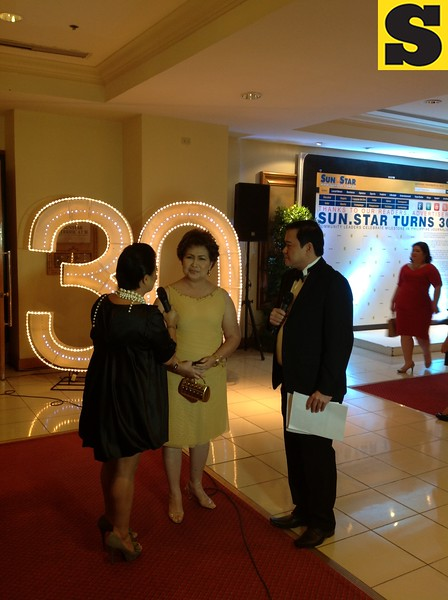 Lapu-Lapu City Mayor Paz Radaza attended Sun.Star's 30th anniversary appreciation night at Waterfront Cebu City Hotel.