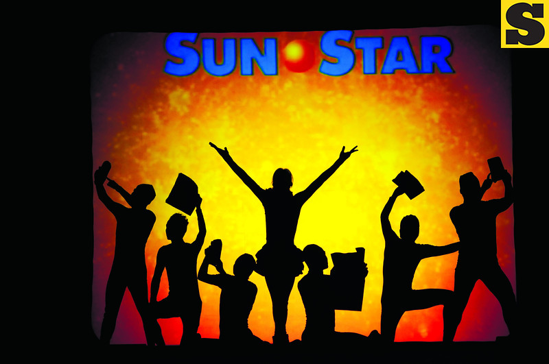 "THANKSGIVING PARTY. Among the highlights of the Sun.Star Terrific @30 appreciation night in the Waterfront Cebu City Hotel and Casino on Saturday was a performance by the ""shadow theater"" group El Gamma Penumbra, interpreting the new Sun.Star song. (Sun.Star Photo/Arni Aclao)"
