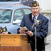 The Rev. Bill Schafer, a Navy veteran of Vietnam, shares a bit of history about the military service history of the Croton area. — Dan Irwin