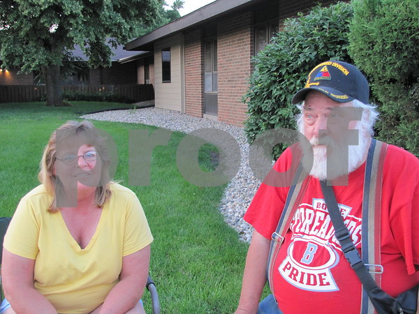 Lori Agnes and Harold Stewart attended the Marian Home fireworks.
