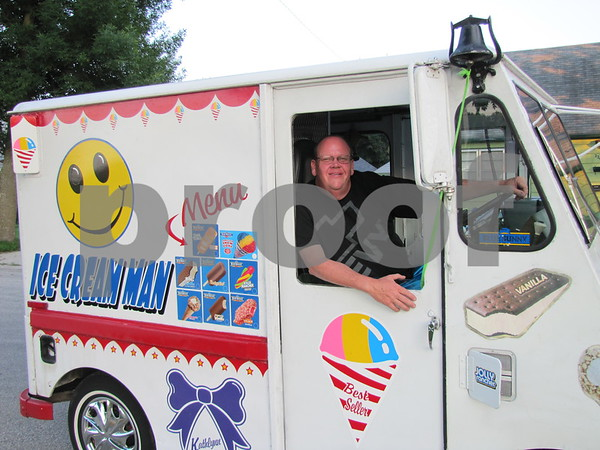"""""""The Ice Cream Man"""", Bill Wilson, was cruising about with refreshing treats to sell the folks watching the fireworks."""