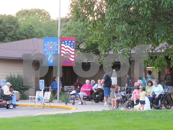 Marian Home residents are ready for the fireworks to begin.