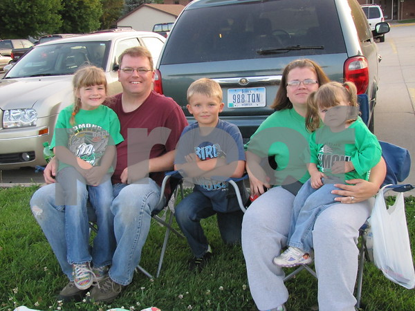 The Kirby family, Aianna, Greg, Ignatius, Jobina, and Ava Marie attended the fireworks put on by the Marian Home.