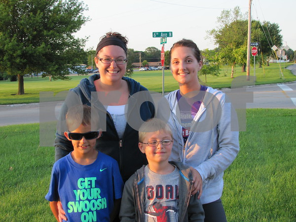 Melissa Brayton and Chelsea Wolfe, and Carter Brayton and Weslee Reader attended the fireworks at the Marian Home.