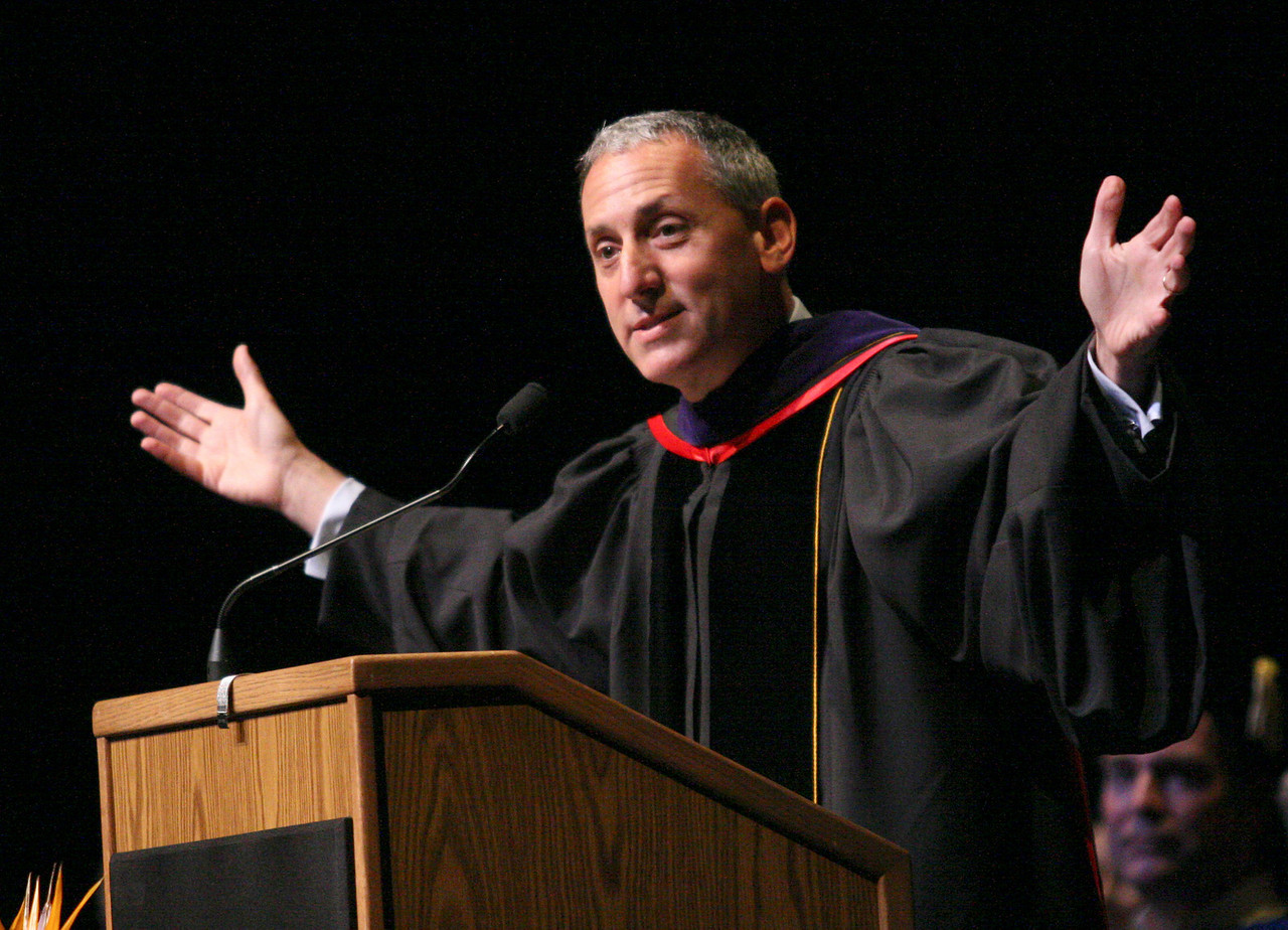 E.L. Hubbard Photography<br /> Eric Fingerhut, J.D., Chancellor of the Ohio Board of Regents, gives the commencement address at the Antioch University McGregor Commencement 2008 at the Schuster Center Sunday, June 29, 2008.