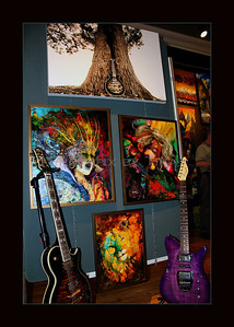 This is artwork!! Resonation top canvassed print by Photopix by Tina  Painted 3 pieces by artist John Newell All pieces are at Antony's Gallery Guitars by Carparelli Guitars