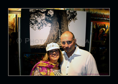 A moment at the re-opening of Antony's Gallery with owner Antony Von Palleske... backdrop artwork is entitled Resonation by Photopix by Tina www.antonysgallery.com
