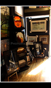 Framed pieces The Bass Player and Solitude are also exhibited at Antony's Gallery ...