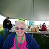 5/14/16 LEOMINSTER--  Mary-Ann Deamicis of Leominster working the 50/50 raffle booth on Saturday during the Apple Blossom Festival at Sholan Farm in Leominster.  Sentinel & Enterprise photo/Jeff Porter