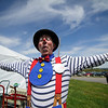 5/14/16 LEOMINSTER-- Davey the Clown, or David Holzman of Roslindale performed for families on Saturday during the Apple Blossom Festival at Sholan Farm in Leominster.  Sentinel & Enterprise photo/Jeff Porter
