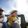 5/14/16 LEOMINSTER-- Soran Lydon - Gross, 1, sitting with parents Ben Gross and Brianne Lydon of Shirley on Saturday during a hay ride through the orchard at the Apple Blossom Festival at Sholan Farm in Leominster.  Sentinel & Enterprise photo/Jeff Porter