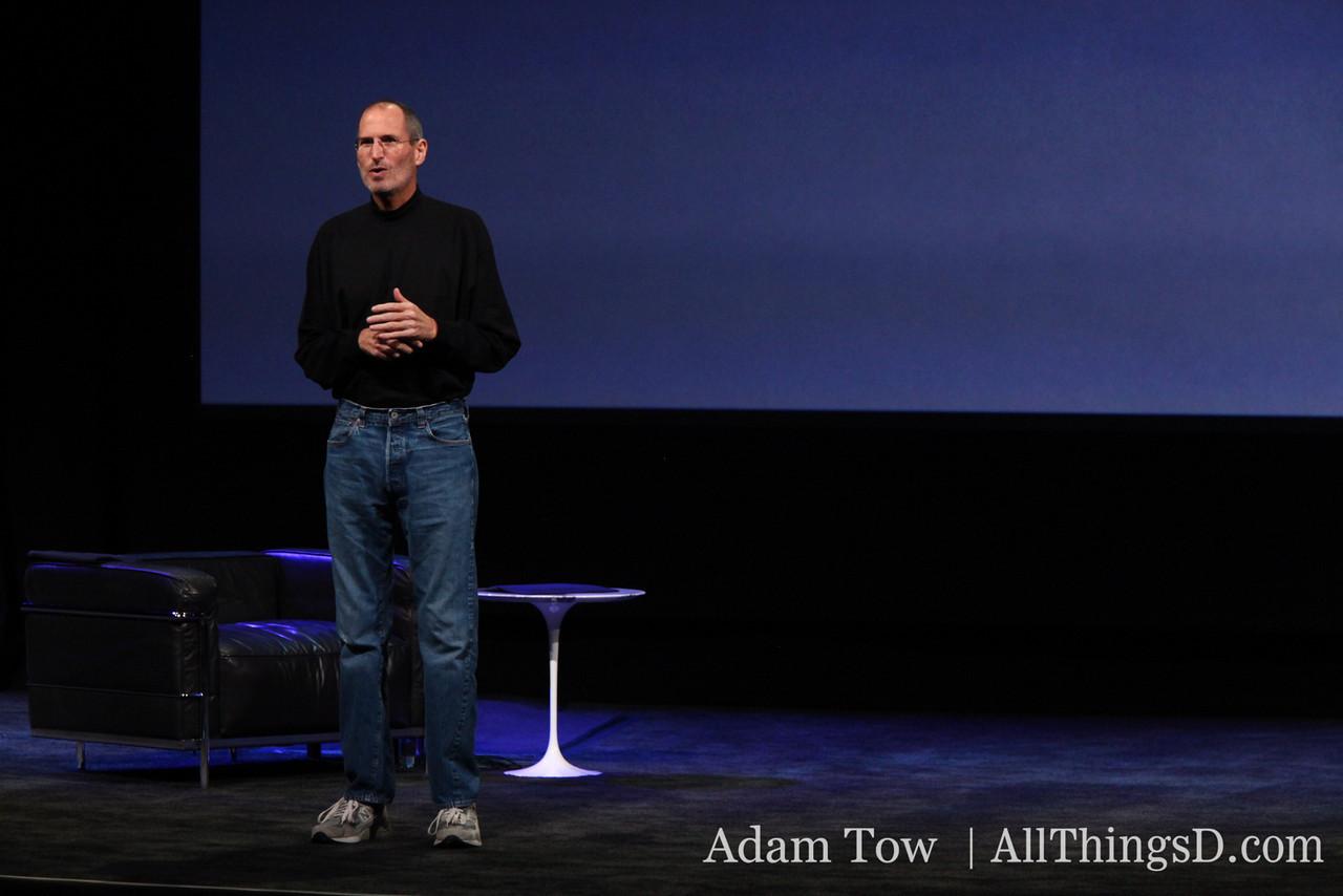 Apple CEO Steve Jobs, live from San Francisco.
