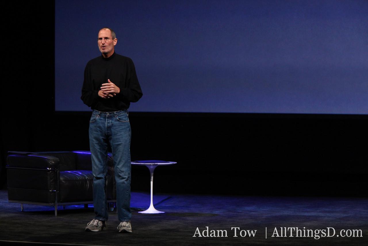 Apple CEO Steve Jobs, live from San Francisco.