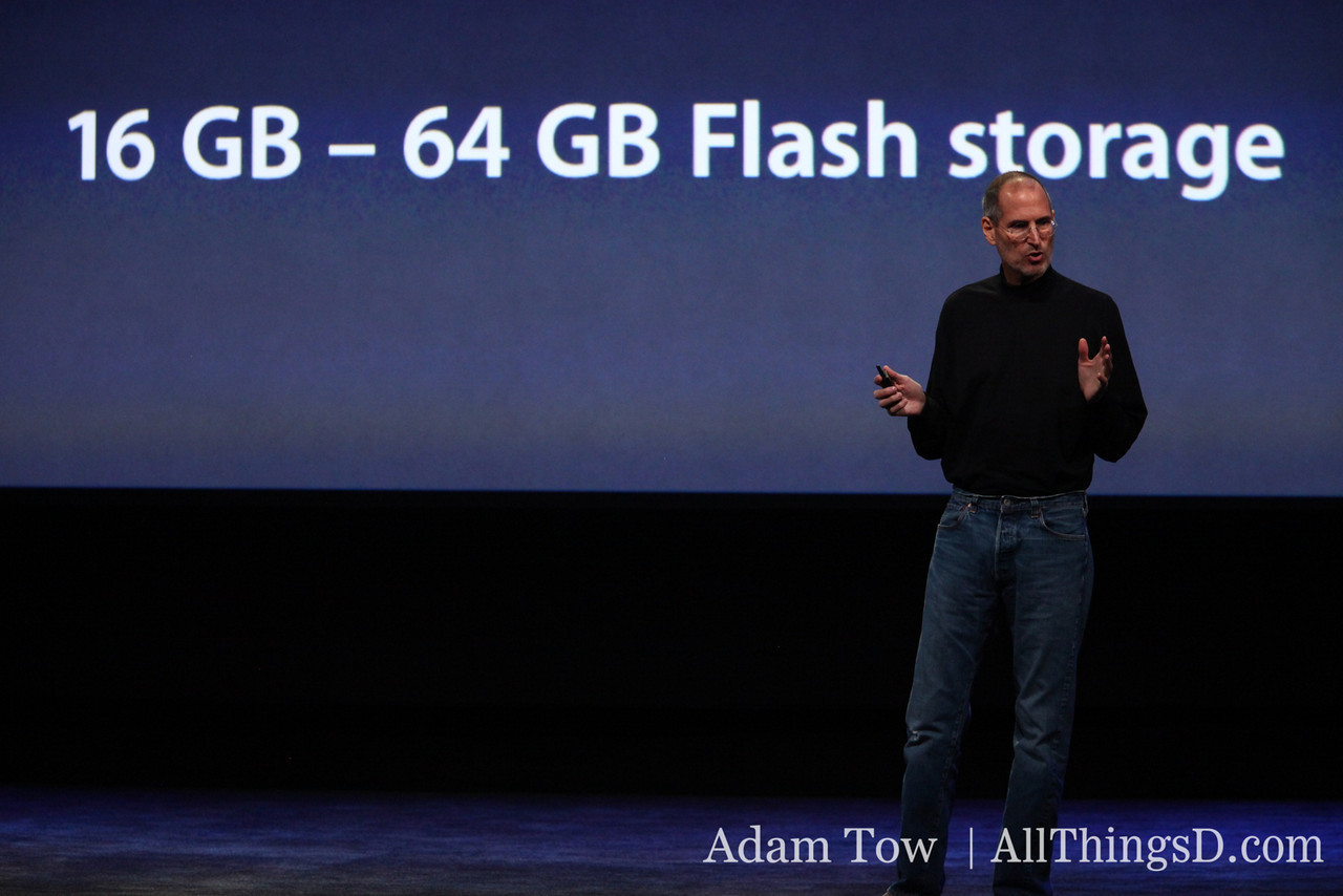 "iPad is powered by Apple's custom silicon. ""We did it in house and it just screams,"" says Jobs."