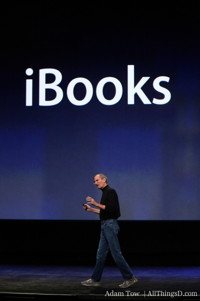"""Jobs: """"We think iPad is going to be a very popular e-reader--not just for bestsellers, but for textbooks as well."""""""