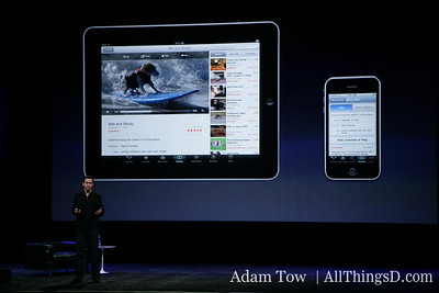 """We built iPad to run virtually every app in the App store right out of the box."" Scott Forstall, Apple SVP of iPhone software."
