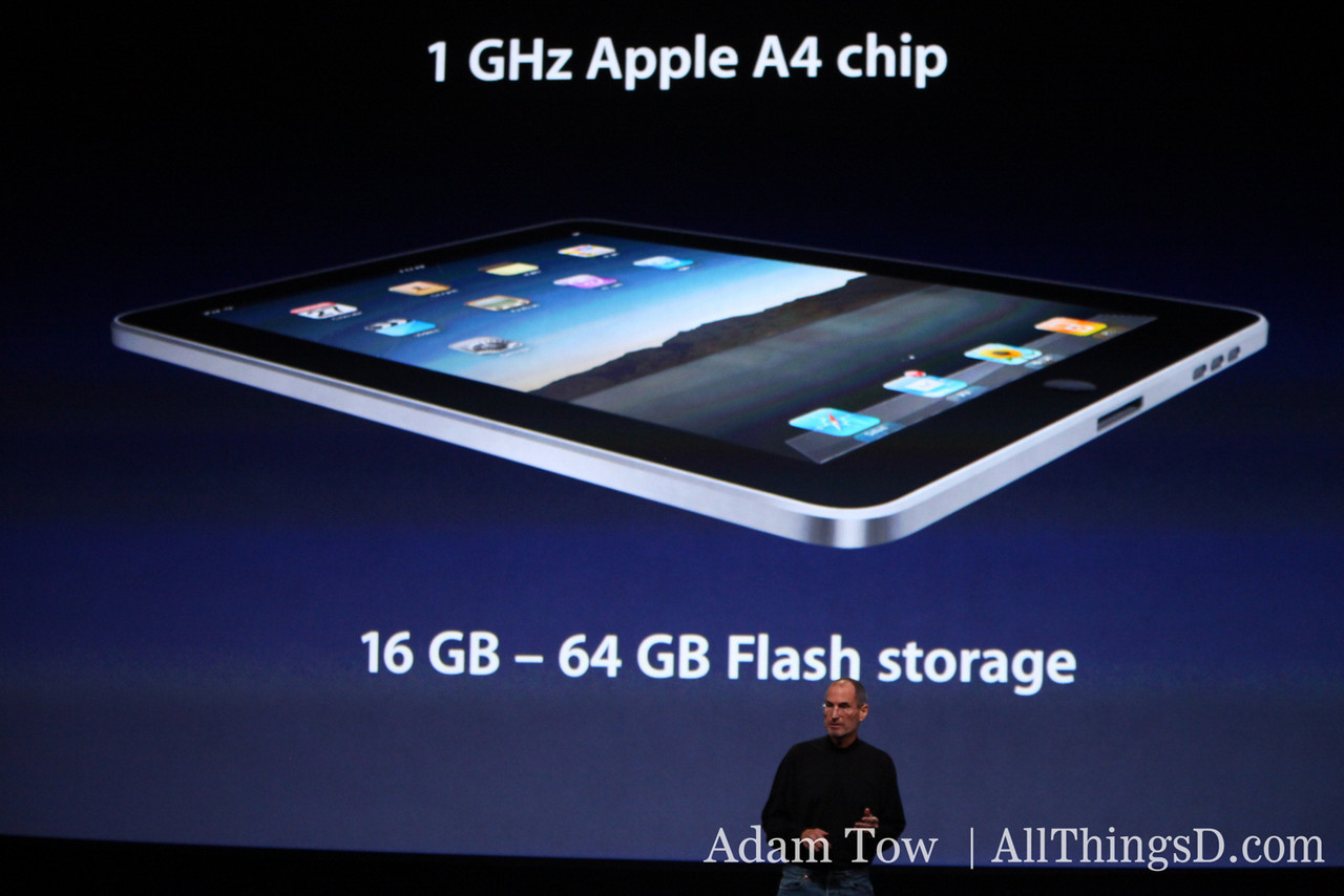 Apple CEO Steve Jobs walks through the new iPad's specs.