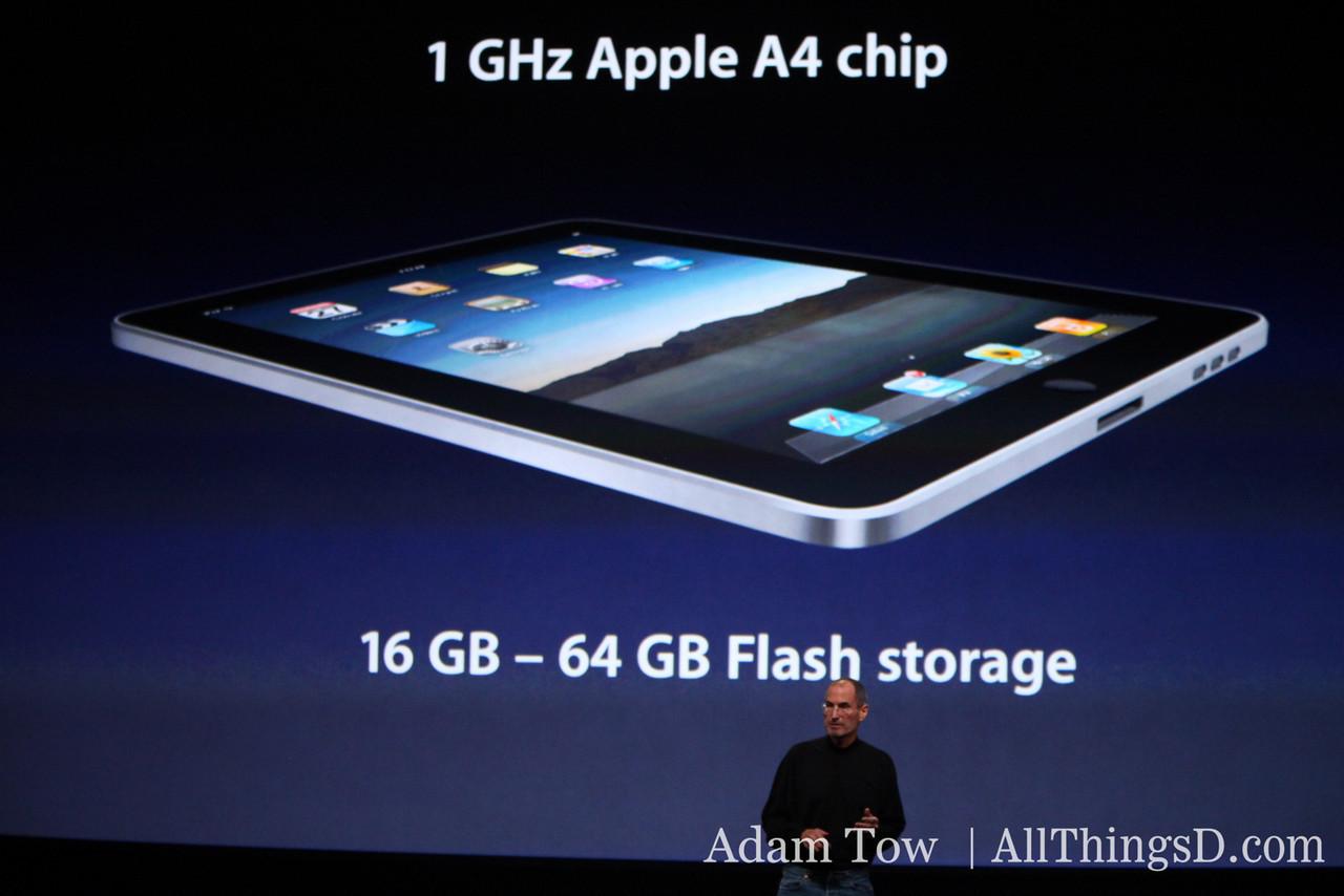 Apple CEO Steve Jobs walks through the new iPad's specs.