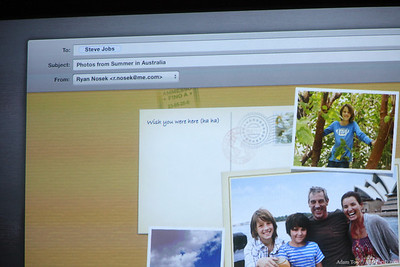 Send an email straight from iPhoto.