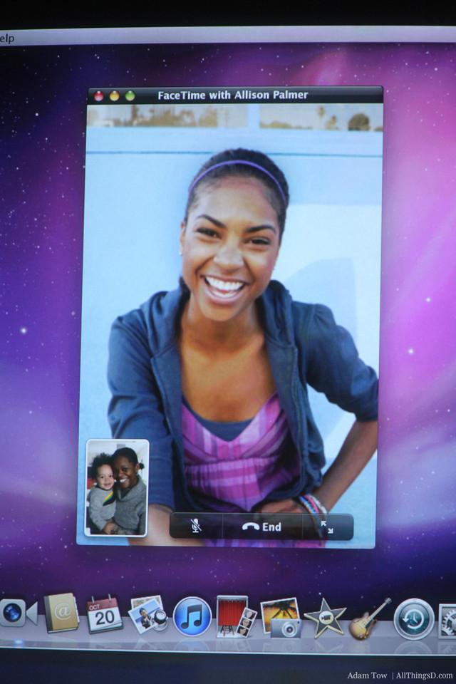 FaceTime screenshot.