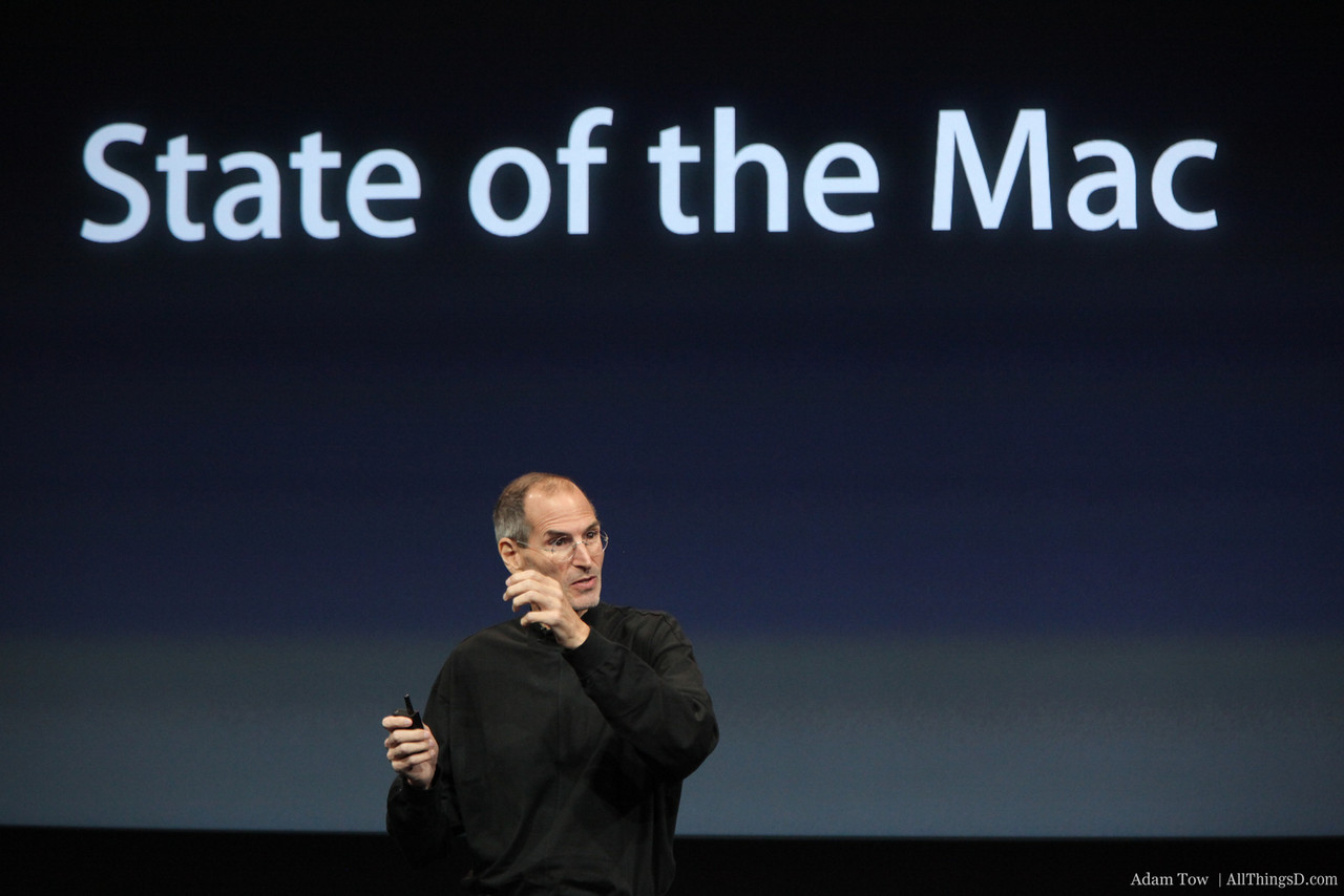 Steve Jobs talks about the strong health of the Mac.