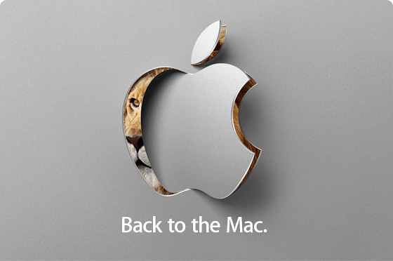 Apple's invitation to the Back to the Mac event on October 20, 2010.