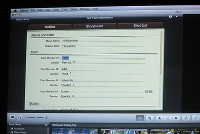 Create your own movie trailer from within iMovie.