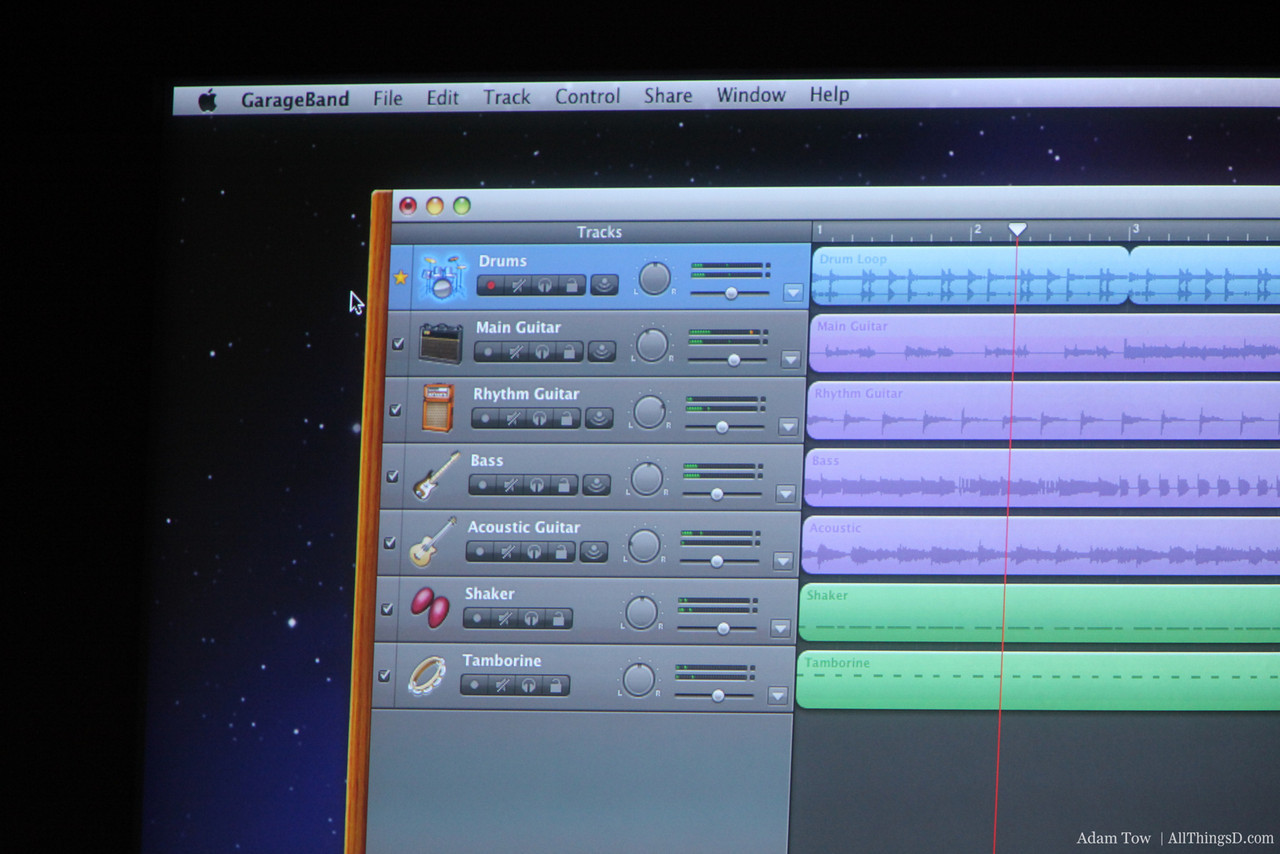 Garage Band screenshot.