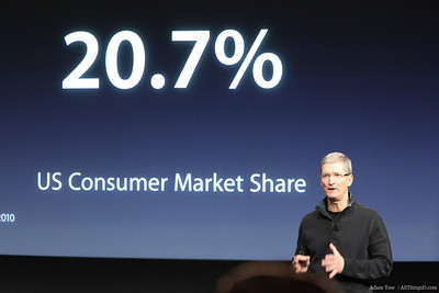 Mac market share has been rising too.