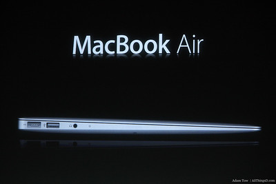 The new MacBook Air.