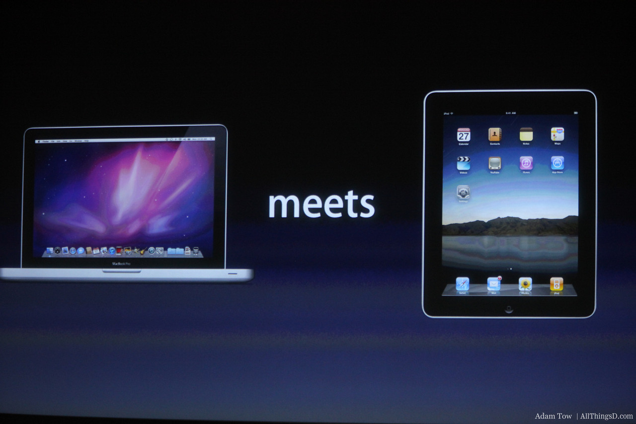 What happens when you merge the iPad with a MacBook Air?