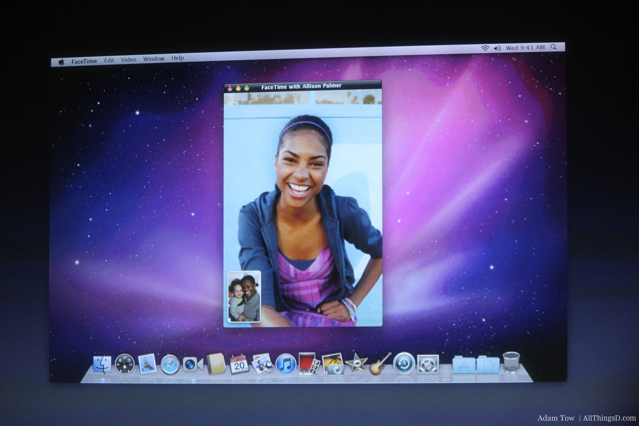 Facetime comes to Mac OS X.