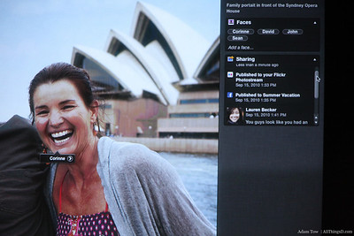 See sharing history and a activity right within iPhoto.