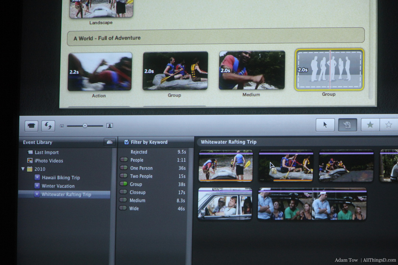 Making a movie trailer in iMovie is very easy.