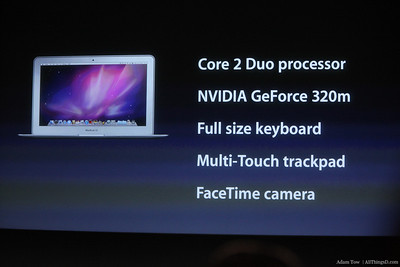MacBook Air specs.