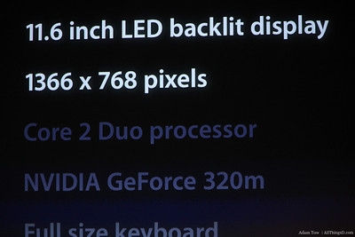 MacBook Air specs.