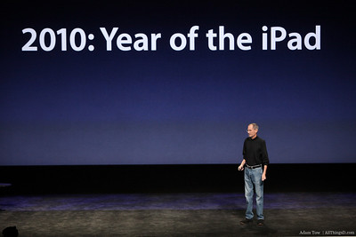 Steve Jobs proclaims that 2010 will be the year of the iPad.