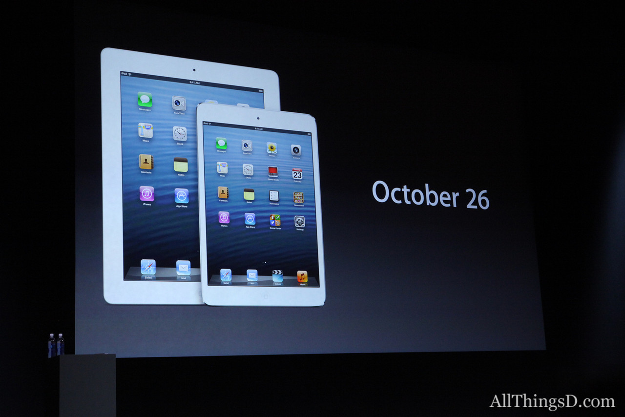 Apple will start accepting orders for the iPad mini later this week.