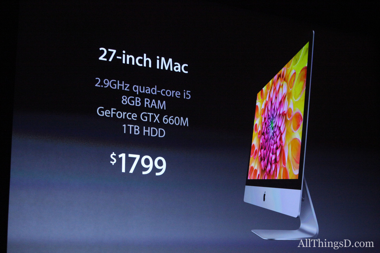The $1799 iMacs won't ship until December, but an entry-level version will be available sooner at $1299.