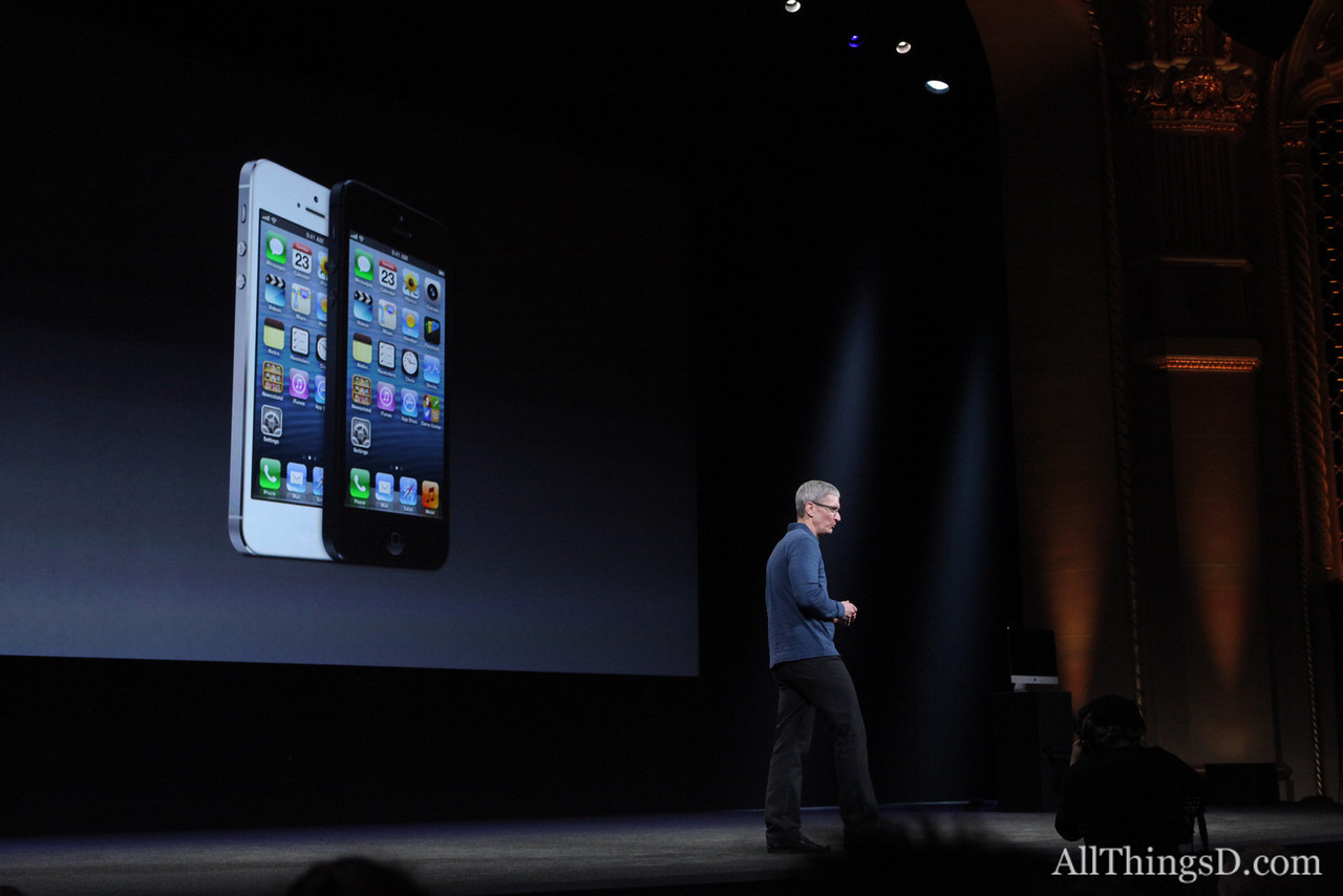 Cook then recapped Apple's big products of the year: the iPhone 5...