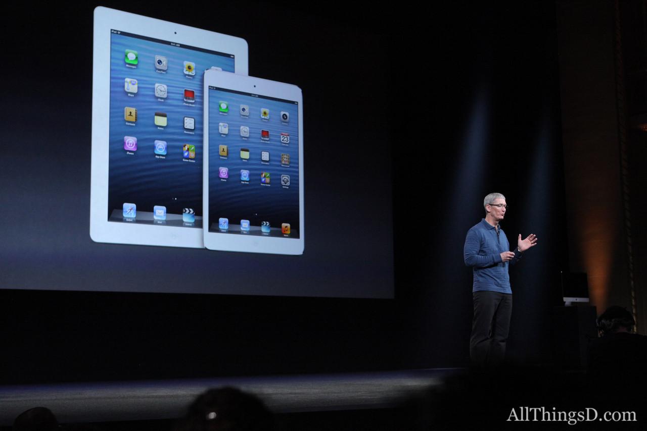 ... and the new iPad and the iPad mini.
