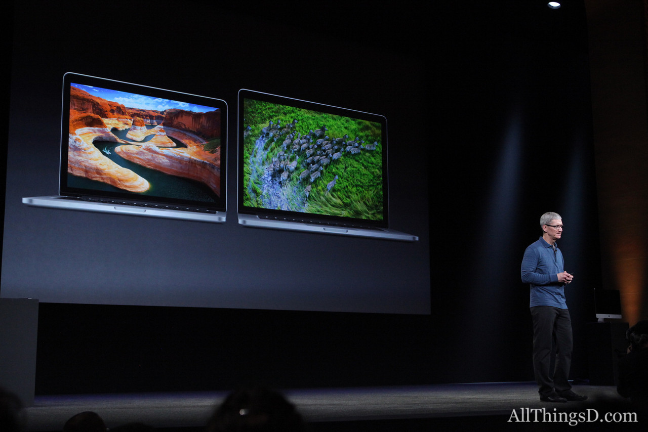 ... new MacBooks with Retina displays...