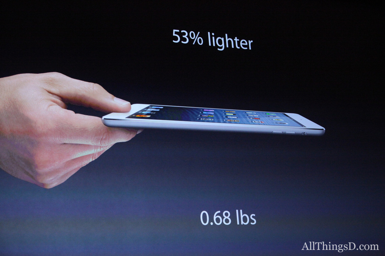 """... and second, the """"iPad mini [is] like Google's Nexus, but better."""""""