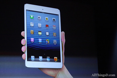 Schiller calls the iPad mini thin as a pencil, and light as a pad of paper.