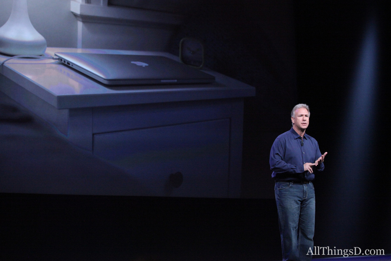 """Everything about the new MacBook Pro has been re-engineered from scratch,"" Schiller said."