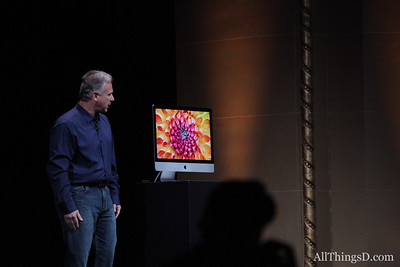 """There is a serious computer inside this thin design,"" Schiller said."