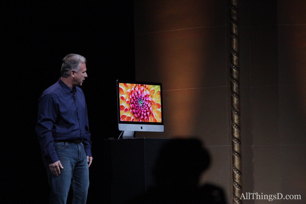 """""""There is a serious computer inside this thin design,"""" Schiller said."""