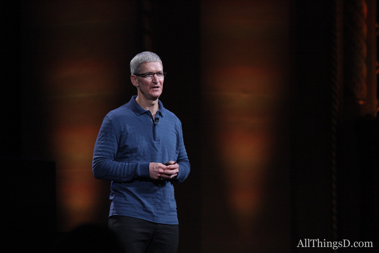 Cook talks about iOS 6's rapid adoption rate.